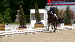 Nicky Greenhill riding Gregorian Chant at Roosendaal 2015 - Canter