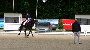 Nicky Greenhill riding Gregorian Chant at Roosendaal 2015 - Floating in Medium Trot